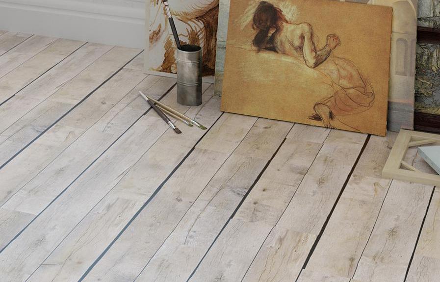 Клеевой пол с фотопечатью Wood от CORKSTYLE