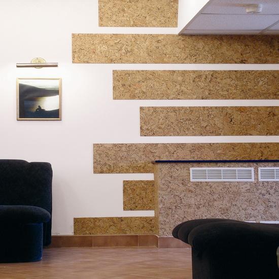 Пробковые покрытия для стен в интерьере