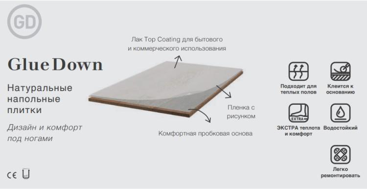 Структура клеевого пробкового пола Corkart Design Concept