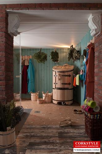 Замковый пробковый полс фотопечатью Corkstyle Printcork Fantasy в интерьере