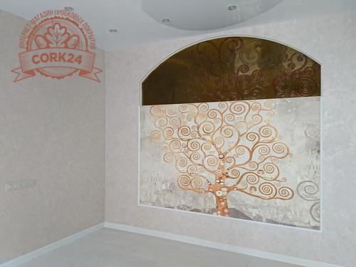 Пробковый пол Corkstyle Wood Oak Polar White в интерьере от Дарьи Камушкиной