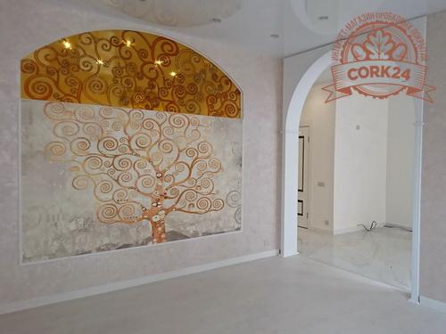 Пробковый пол Коркстайл Wood Oak Polar White в интерьере от Дарьи Камушкиной