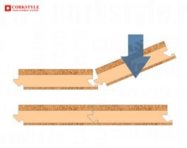 Замковый пробковый ламинат Corkstyle