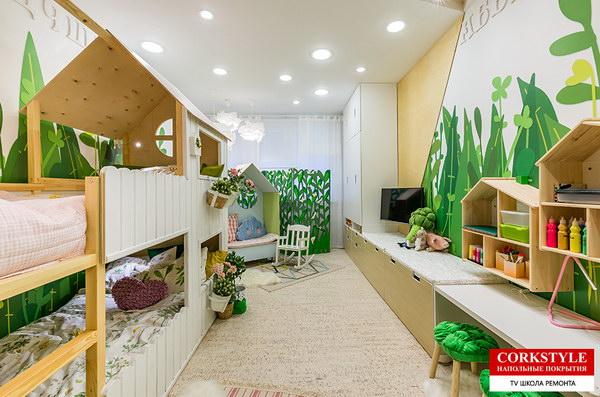 Пробковый пол в интерьере квартиры