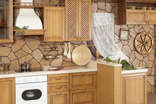 Пробковые покрытия для стен на кухне в интерьере
