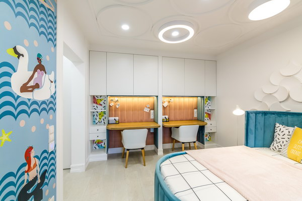 Детская комната с пробковым поломCorkstyle CorkPro Comprido Milk фото 5