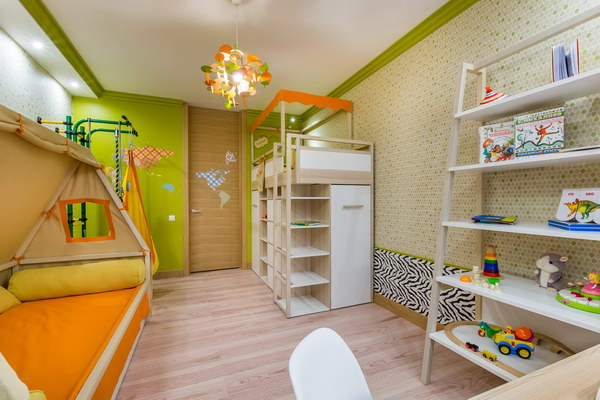 Пробковый ламинат в детской комнате