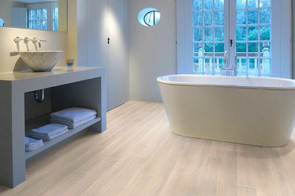 Пробковые покрытия в ванной комнате