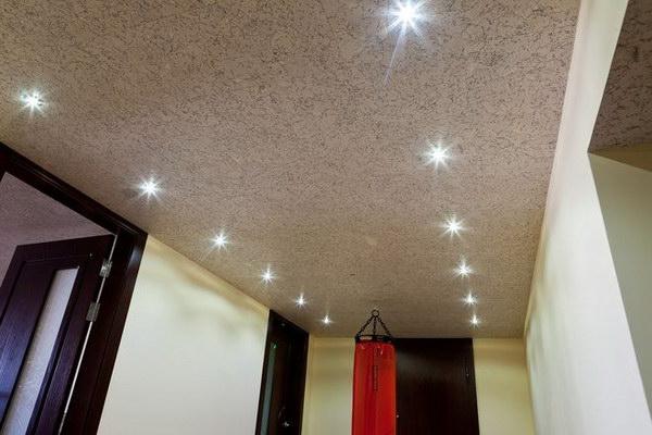 Пробковые потолочные покрытия в интерьере