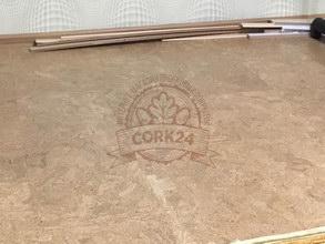 Укладка клеевого пробкового пола Corkstyle - фото 1
