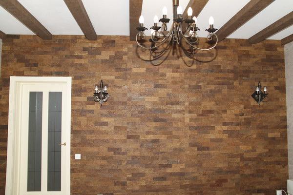 Декоративные панели для стен из пробки в интерьере