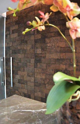 Стеновые пробковые панели в интерьере