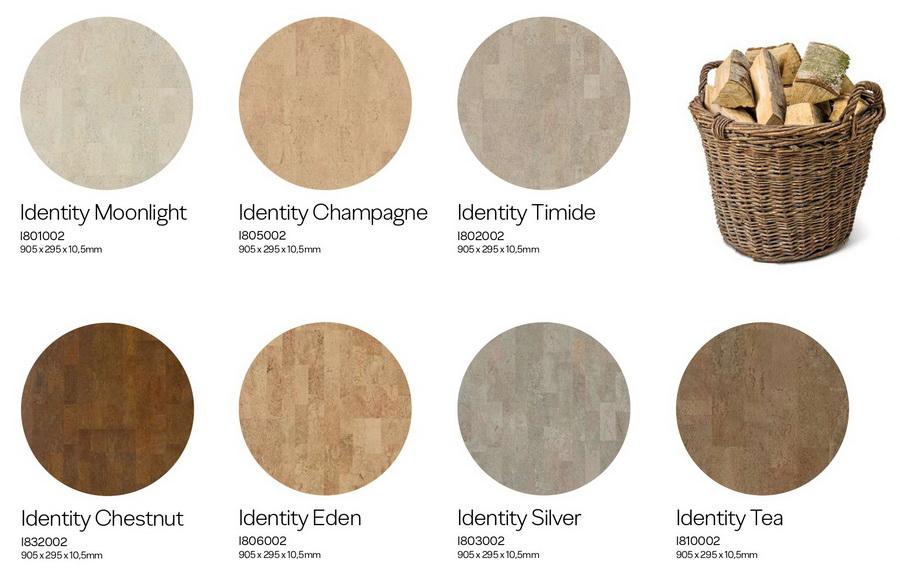 Декоры Wicanders Cork Identity